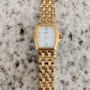 SEIKO Women's Diamond & Mother of Pearl Watch